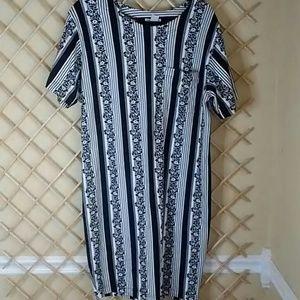 Talbots size L 100% cotton short sleeve dress